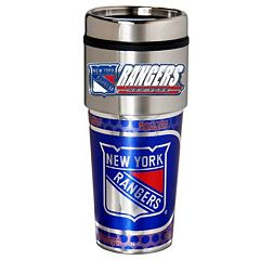 New York Rangers Stainless Steel Metallic Travel Tumbler