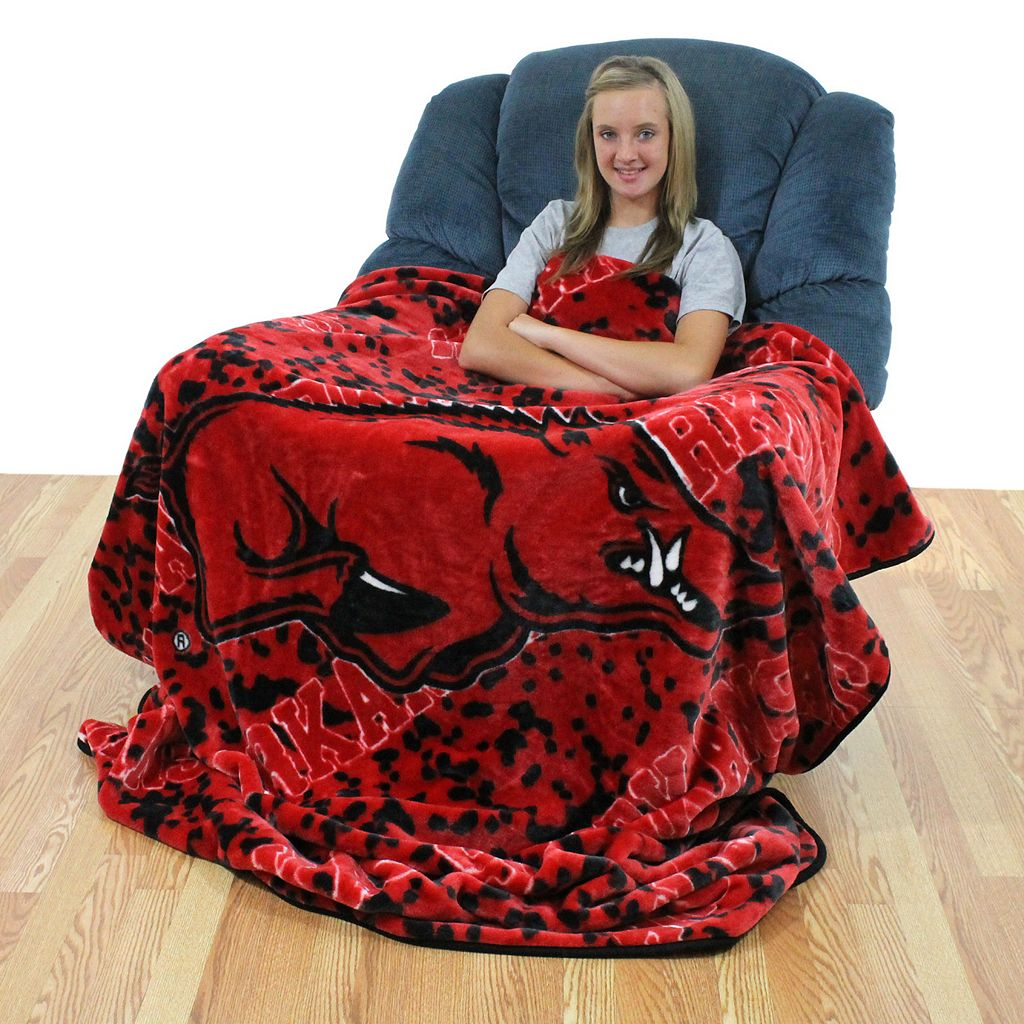 College Covers Arkansas Razorbacks Raschel Throw Blanket