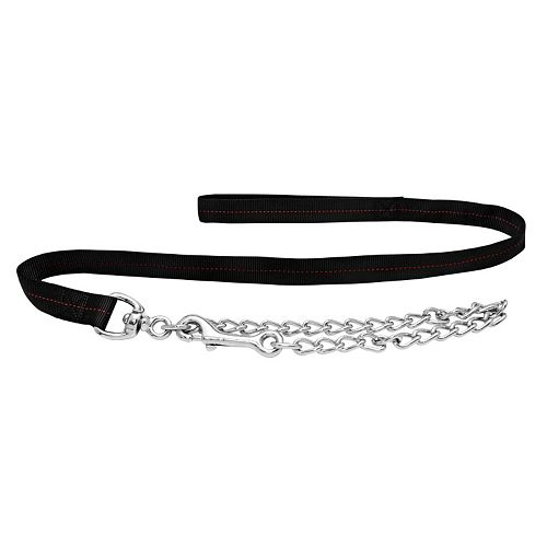 Ruffin' It Para Web 5-ft. Black Leash with Chain