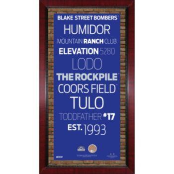 "Steiner Sports Colorado Rockies 32"" x 16"" Vintage Subway Sign with..."