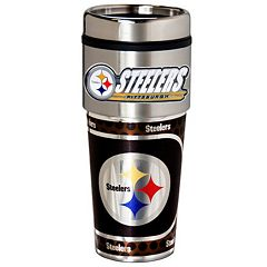 Pittsburgh Steelers Stainless Steel Metallic Travel Tumbler