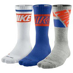 Men's Nike 3 pkDri-FIT Rise Crew Socks
