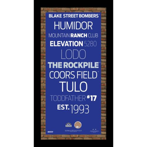 Steiner Sports Colorado Rockies 19'' x 9.5'' Vintage Subway Sign with Authentic Field Dirt