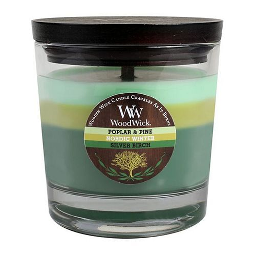 WoodWick 10 1/2-oz. Poplar & Pine, Nordic Winter & Silver Birch Soy Jar Candle