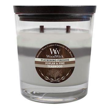 WoodWick 17.2-oz. Flickering Fireside, Poplar & Pine & Teakwood Soy Jar Candle