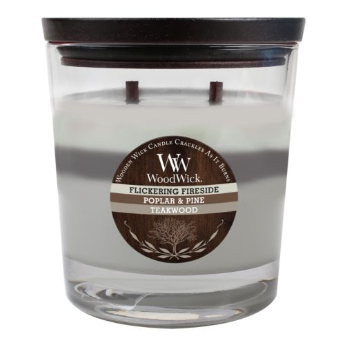 WoodWick 17.2-oz. Flickering Fireside, Poplar and Pine and Takewood Soy Jar Candle