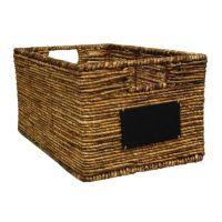 Lukasian House Maize Chalkboard Storage Basket - Large