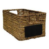 Lukasian House Maize Chalkboard Storage Basket - Small