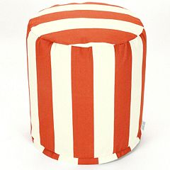 Majestic Home Goods Striped Small Pouf Ottoman