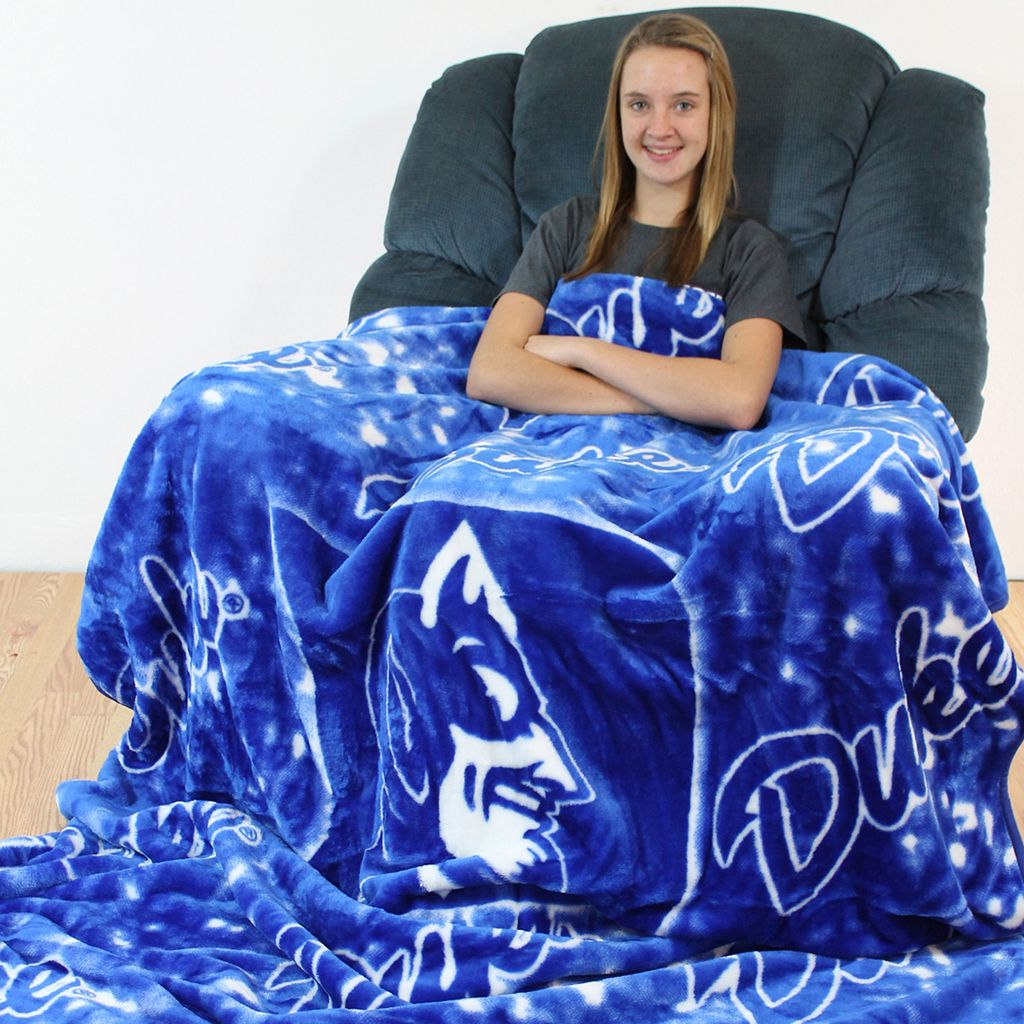 College Covers Duke Blue Devils Raschel Throw Blanket