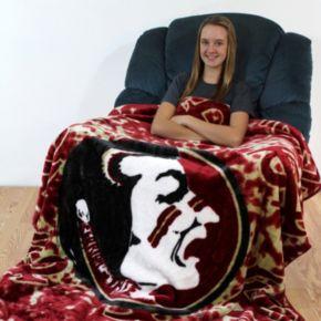College Covers Florida State Seminoles Raschel Throw Blanket