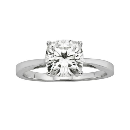 Forever Brilliant Cushion-Cut Lab-Created Moissanite Engagement Ring in 14k White Gold (1 7/10 ct. T.W.)