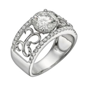 Forever Brilliant Round-Cut Lab-Created Moissanite Engagement Ring in 14k White Gold (2 1/4 ct. T.W.)