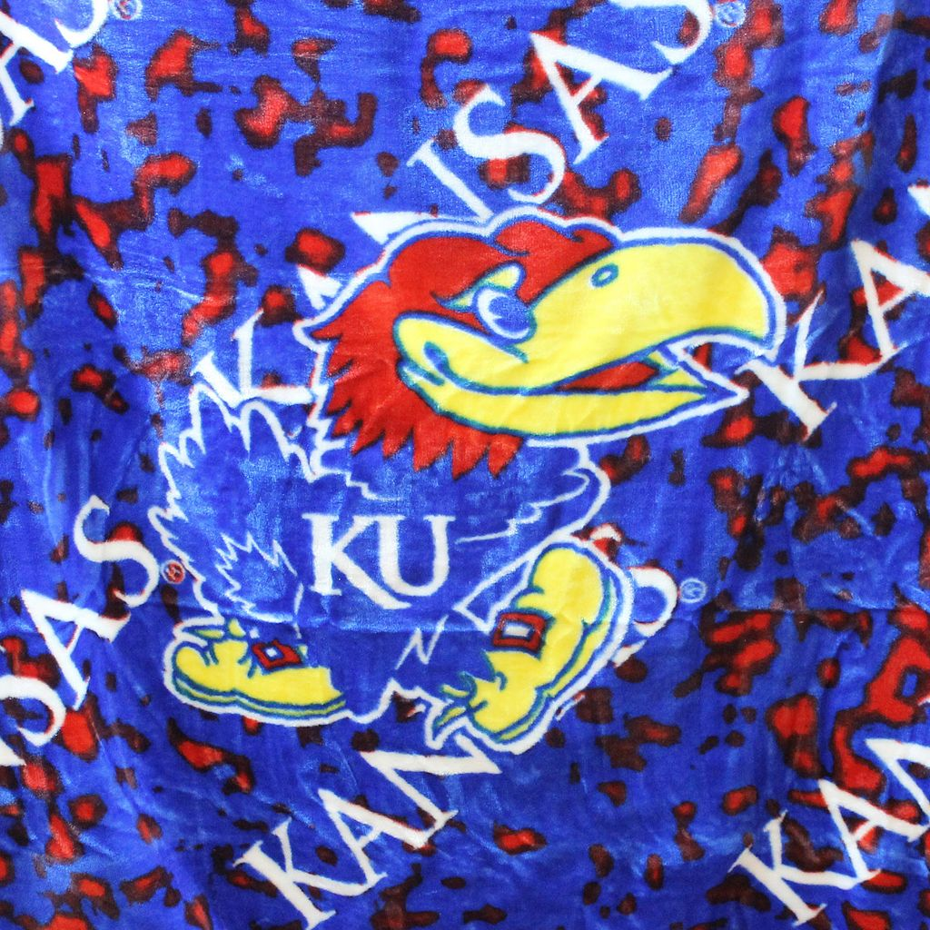 College Covers Kansas Jayhawks Raschel Throw Blanket