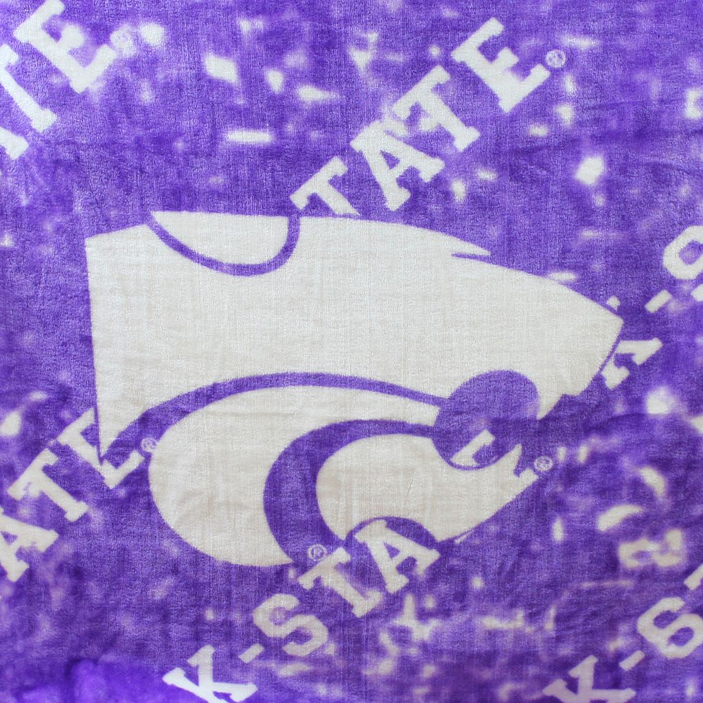 College Covers Kansas State Wildcats Raschel Throw Blanket