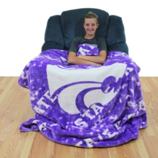 College Covers Kansas State Wildcats Raschel Throw Blanket