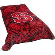 College Covers North Carolina State Wolfpack Raschel Throw Blanket