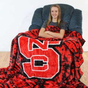 College Covers North Carolina State Wolfpack Raschel Throw Blanket