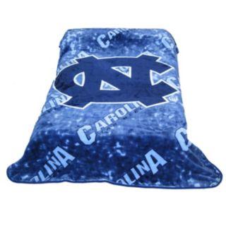 College Covers North Carolina Tar Heels Raschel Throw Blanket