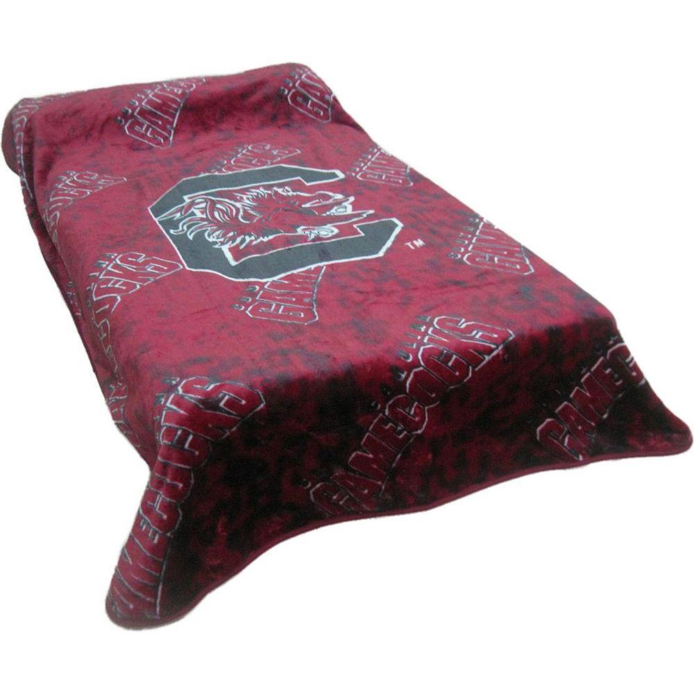 College Covers South Carolina Gamecocks Raschel Throw Blanket