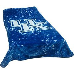 College Covers Kentucky Wildcats Raschel Throw Blanket