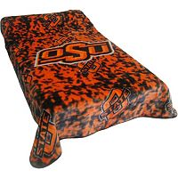 College Covers Oklahoma State Cowboys Raschel Throw Blanket
