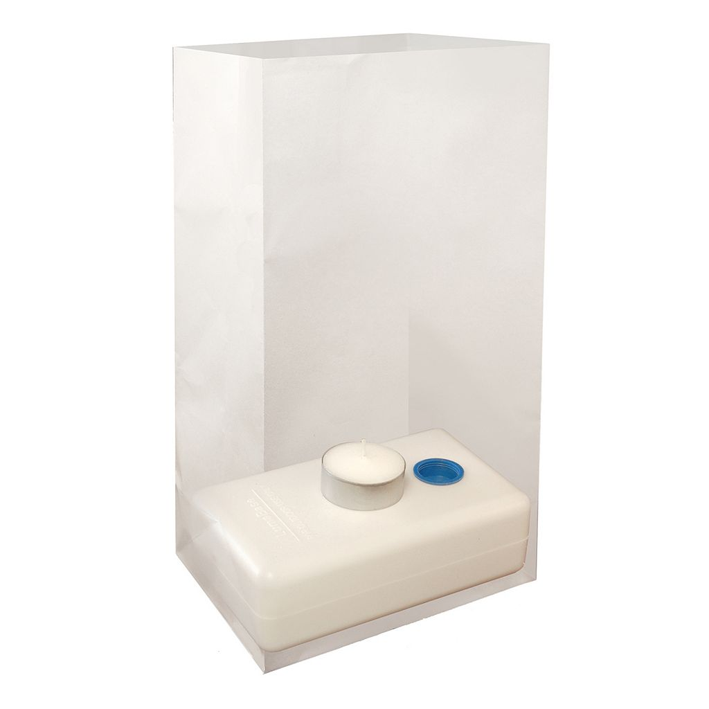 LumaBase 100-pc. Water-Filled Luminaria Candleholder Set