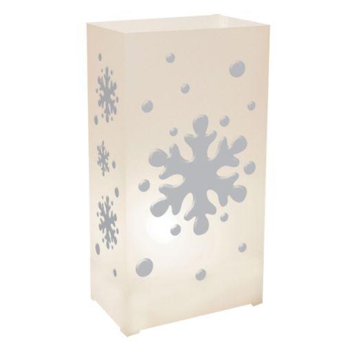 LumaBase Snowflake Plastic Luminaria Lantern 12-piece Set