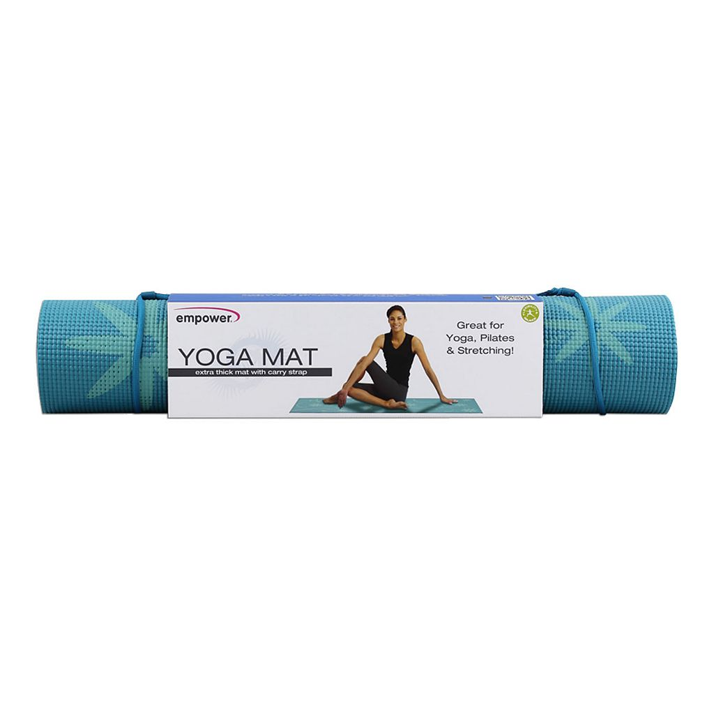 empower Floral Yoga Mat with Carry Strap
