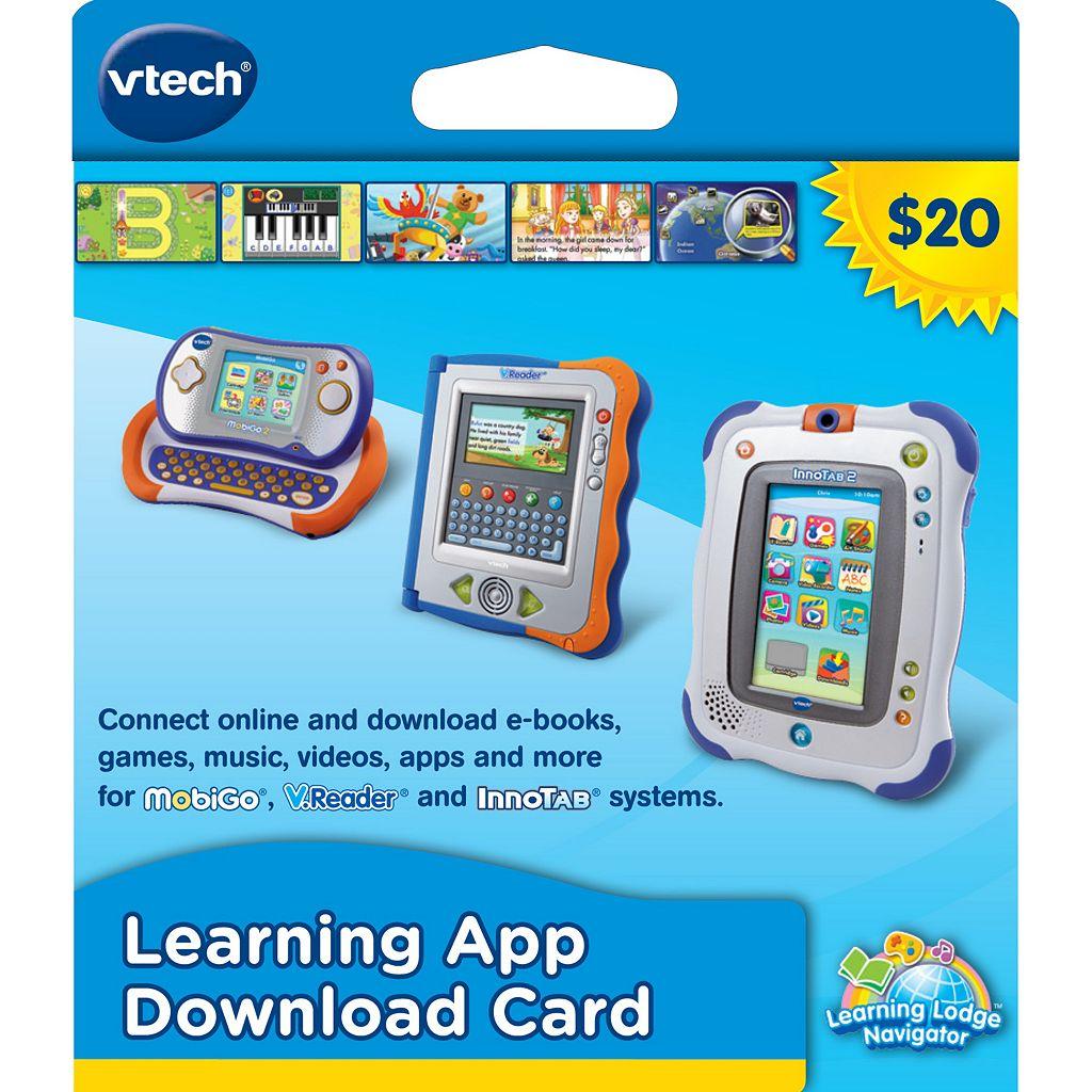 VTech $20 Learning App Download Card