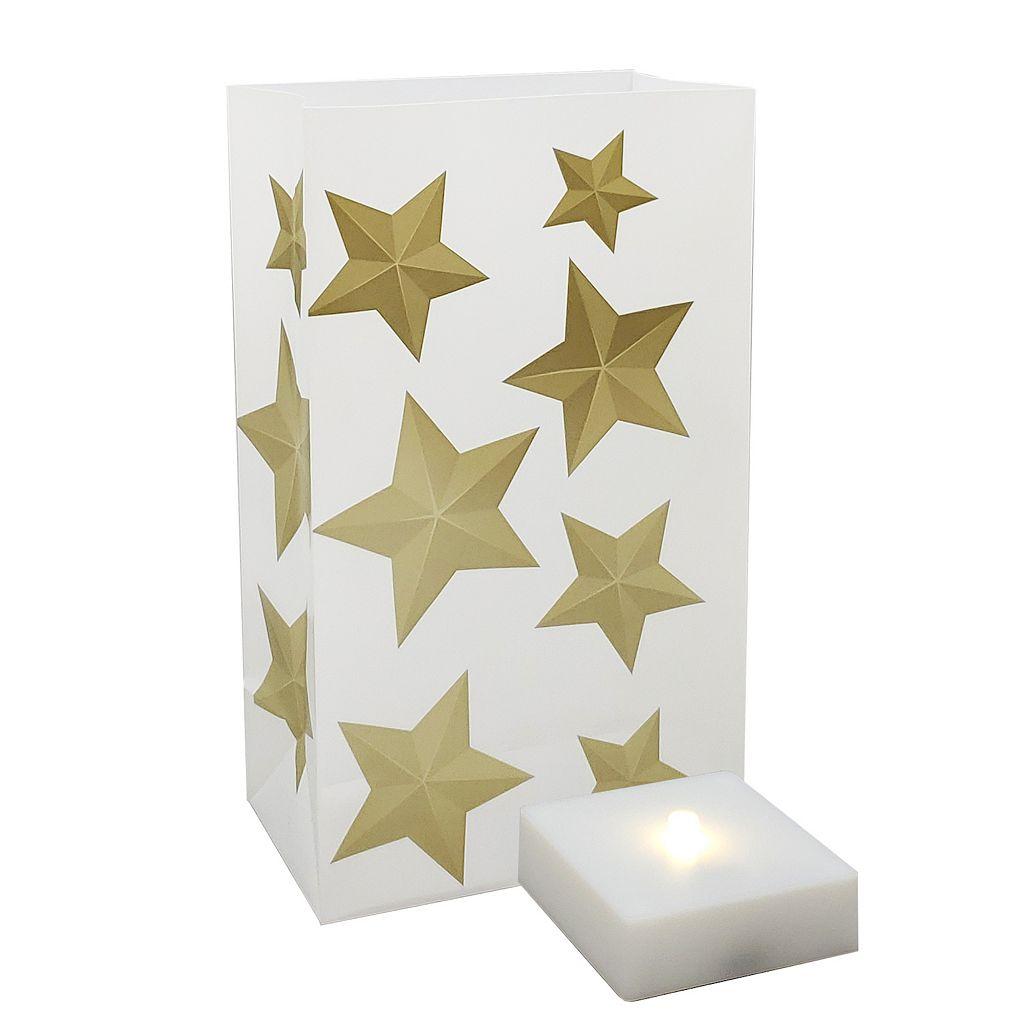 LumaBase Timer LumaLite & Star Luminaria Bags 6-piece Set
