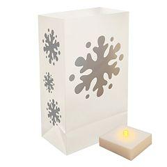 LumaBase 6 pkLumaLite Timer & Snowflake Luminaria Bags