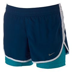 Women's Nike Dri-FIT Racer Printed Double-Layer Running Shorts