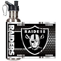 Oakland Raiders Stainless Steel Water Bottle With Wrap