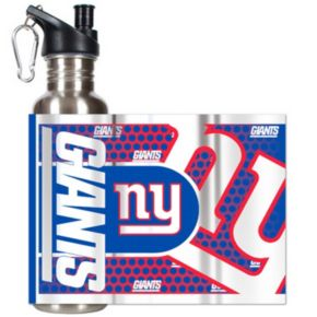 New York Giants Stainless Steel Water Bottle With Wrap
