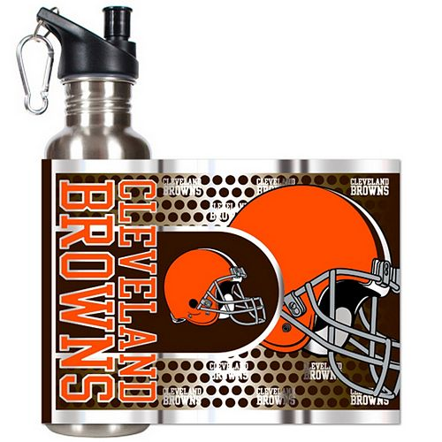 Cleveland Browns Stainless Steel Water Bottle With Wrap