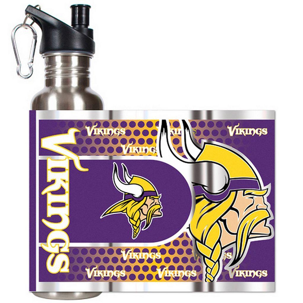 Minnesota Vikings Stainless Steel Water Bottle With Wrap