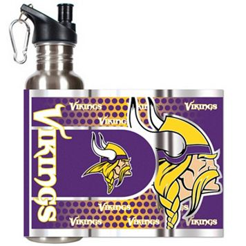 Minnesota Vikings Stainless Steel Water Bottle With Wrap
