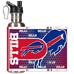 Buffalo Bills Stainless Steel Water Bottle With Wrap