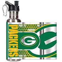 Green Bay Packers Stainless Steel Water Bottle With Wrap