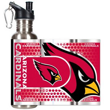 Arizona Cardinals Stainless Steel Water Bottle With Wrap