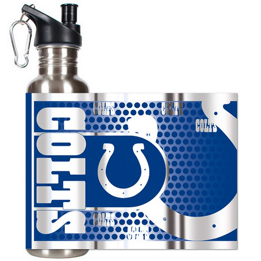 Indianapolis Colts Stainless Steel Water Bottle With Wrap