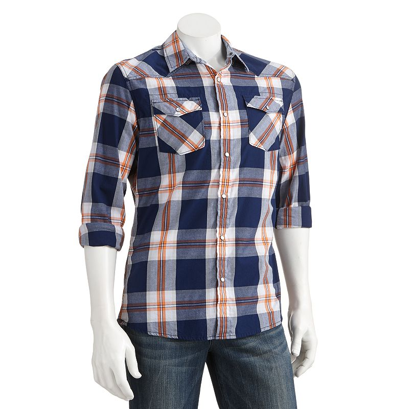 Urban Pipeline Plaid Woven Western Shirt - Big and Tall