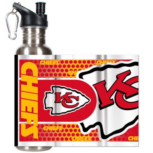 Kansas City Chiefs Stainless Steel Water Bottle With Wrap