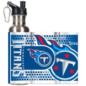 Tennessee Titans Stainless Steel Water Bottle With Wrap