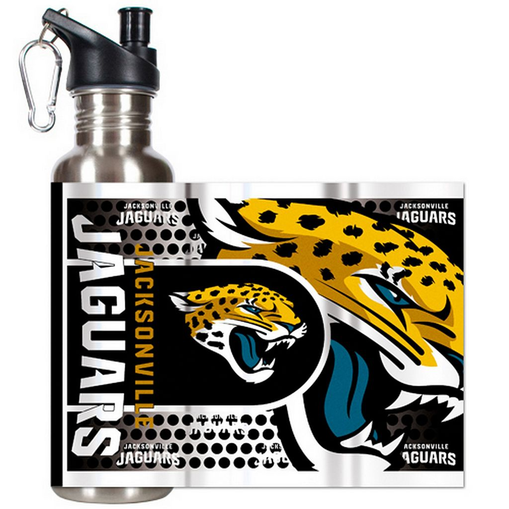 Jacksonville Jaguars Stainless Steel Water Bottle With Wrap