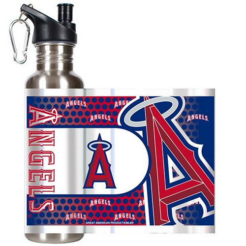 Los Angeles Angels of Anaheim Stainless Steel Water Bottle With Wrap