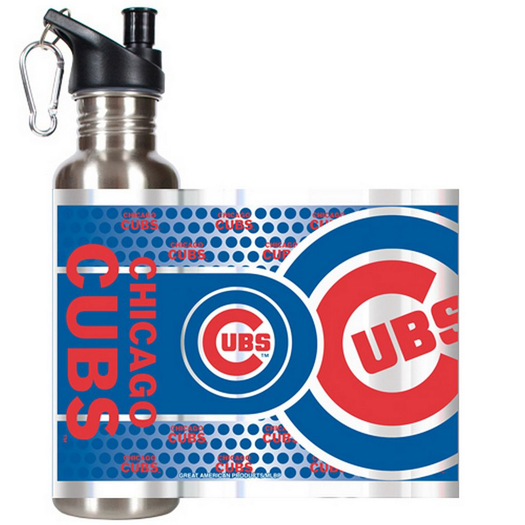Chicago Cubs Stainless Steel Water Bottle With Wrap