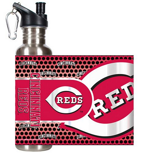 Cincinnati Reds Stainless Steel Water Bottle With Wrap