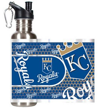 Kansas City Royals Stainless Steel Water Bottle With Wrap